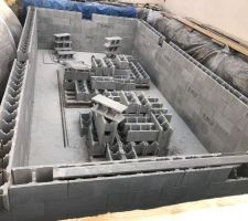 Préparation emplacement pièces à sceller