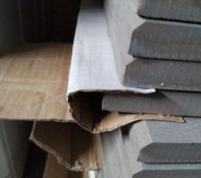 Nos plaques façonnées, reste plus qu'à les couper à la bonne largeur.