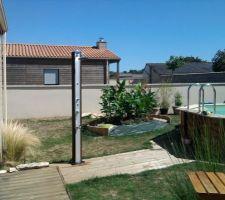 Installation de la douche solaire/brumisateur
