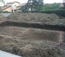 Terrassement de la piscine