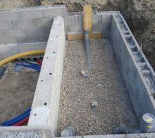 Le détail du local technique, emplacement futur de la douche et du WC