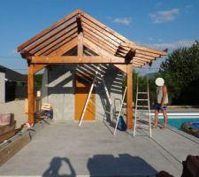 Construction toiture du pool-house