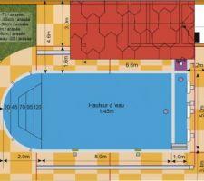 Schéma de principe de la piscine