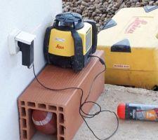 Laser pour calculer la profondeur du terrassement
