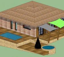 Avant projet de construction d'une piscine hors-sol de 5.00 x 3.00m