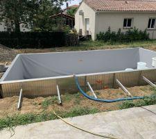 Vidange piscine pour pose du joint sous liner