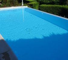 Voila la piscine en mode débordement