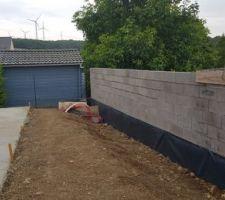 Démarrage de l arase du mur