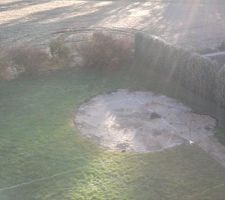 Traçage de l'implantation de la piscine