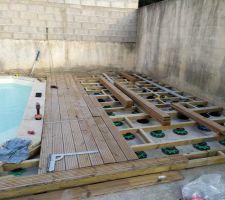 Construction de la terrasse sur petite dalle !