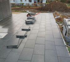 Terrasse dalle granite