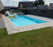 Photo de ma piscine presque totalement terminée, je suis plutôt satisfait du résultat, piscine faite entièrement seul?, il manque juste la douche