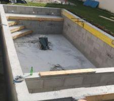 Construction et coulage des murs finit. En attente crépis intérieur