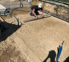 Mise en place du calcaire