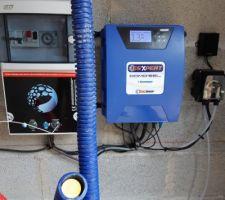 électrolyseur au sel et tableau électrique