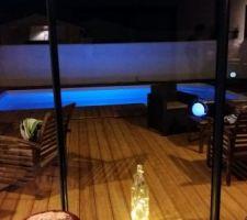 Première soirée autour de cette piscine :)