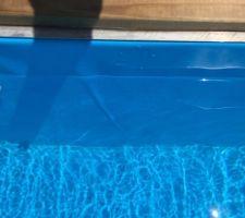 Liner en pvc armé Alkorplan verni 75/100, malheureusement il y a des plis très visibles! Aquatech dit ne rien pouvoir faire... sympa!