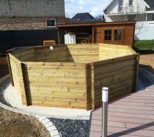 Fin du montage de la structure bois