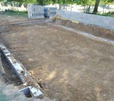 Excavation du bassin