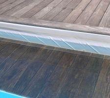 Plis liner façade nord de la piscine