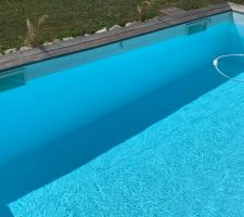 Plis liner façade sud de la piscine