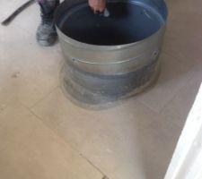 Raccord pvc pour la betterie d eau chaude