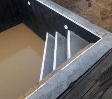 Coulage de l'escalier d'angle