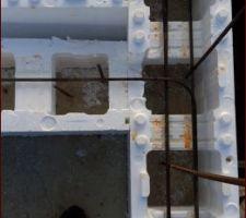 Petit aperçus du ferraillage de l'escalier qui seras solidaire au murs de la piscine