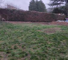 Le terrain avant le début des travaux