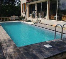Autre angle de vue, là çà ressemble à une piscine.