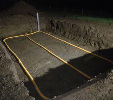 Réalisation du puit de décompression et drainage sous dalle