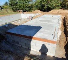 Ca y'est les fondations et le vide sanitaire du Pool House sont finis