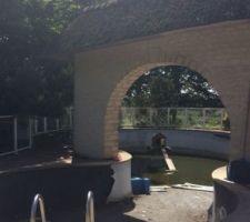 Piscine : vu du petit bassin