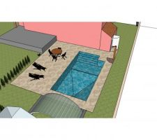 Plan d'implantation global du projet piscine