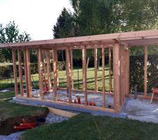 Construction du local technique en ossature bois