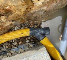 Drainage périphérique vers emplacement puits de décompression