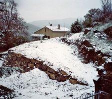 Terrassement sous la neige