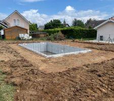 Vue générale du chantier avec les terres remises en place