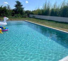 La piscine est remplie