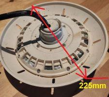 Le diamètre total du projecteur d'origine GA