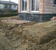 Fondations terrasse béton