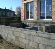 Préparation terrase béton