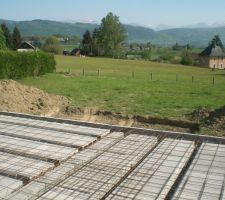 Préparation terrasse béton
