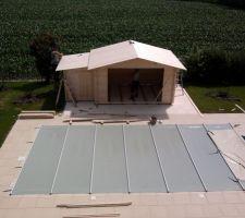 Appentis monté, toit terminé