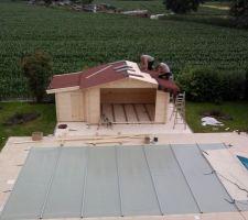 Poursuite mise en place étanchéité du toit