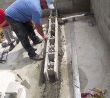 Construction de la plage