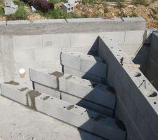 Construction de l'escalier d'angle