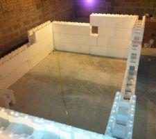 Essai de montage de la structure dans mon sous sol ;-)