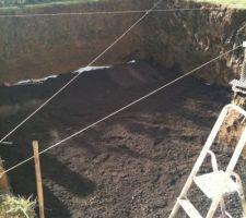 10 tonnes de graviers étalés