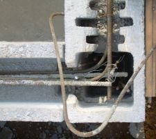 Profile du ferraillage de la derniere ceinture